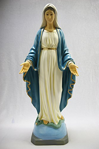 23.5'' Our Lady of Grace Mary Madonna Catholic Church Statue Sculpture Figurine Religious Vittoria Collection Made in Italy by Vittoria Collection