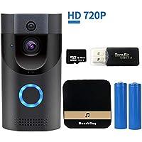 WiFi Smart Video Doorbell Camera Wireless Door Bell 720P...