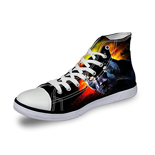 FOR U DESIGNS 3D Zoo Animals Pattern Flats Sneakers For Mens Canvas Shoes C3965ak OkBbSW