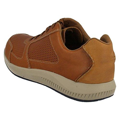Clarks Casual Hombre Zapatos Sirtis Mix En Piel Marrón Tamaño 41 QjDGHuhOXP