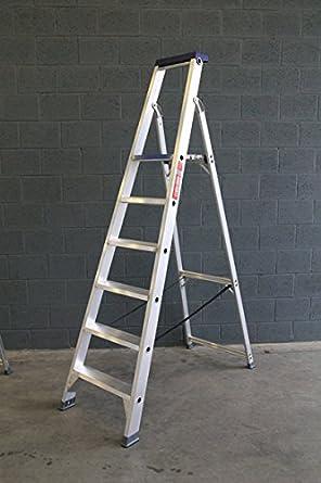 ASC HYMER – Escalera, de aluminio escalera, escalera, 7 extrapanorámicas peldaños, N- en 131 hasta 150 kg, calidad profesional: Amazon.es: Industria, empresas y ciencia