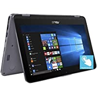 ASUS Vivobook Flip 11.6 HD 2 in 1 Touchscreen Laptop Computer, Intel Celeron N3350 up to 2.4GHz, 4GB RAM, 64GB emmc + 128GB SD, 802.11ac WIFI, Bluetooth 4.1, Type-C, HDMI, Fingerprint, Windows 10