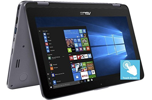 2018 ASUS Vivobook Flip 11.6″ HD 2-in-1 Touchscreen Laptop Computer, Intel Celeron N3350 up to 2.4GHz, 4GB RAM, 64GB emmc + 128GB SD Card, Fingerprint, 802.11ac, USB Type-C, Bluetooth, Windows 10