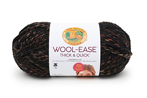 Lion Brand Yarn 641-539 Wool-Ease Thick & Quick Bonus Bundle Yarn, One Skein, Toasted Almond ()