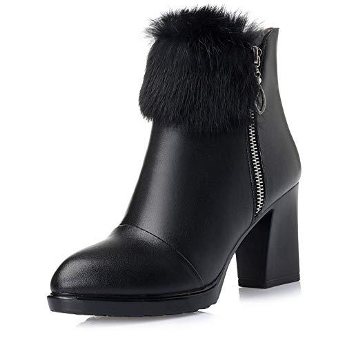 Mode Talons avec Femmes Chaussures et Femmes Hauts Hiver des hauts Bottes Femmes des Automne 's Talons de HCBYJ Bottes épais vwxWd7nvA