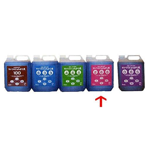 【4個】 サトウキビのちから水 2-6-6 4L 有機入り複合肥料 野菜 果物 芝生 日本アルコール産業 タ種代不 B01I4IC9SU