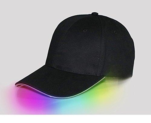 AISme LED Light Up Baseball Hats Luminous Glow Adjustable Cap For Party Sports (Light Up Baseball Caps)