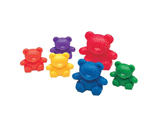(Learning Resources Three Bear Family Rainbow Counters, Set of 96)