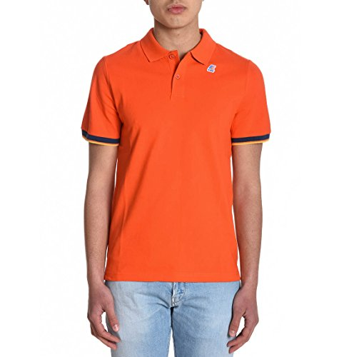 K-Way Herren K0057R0KC1 Orange Baumwolle Poloshirt