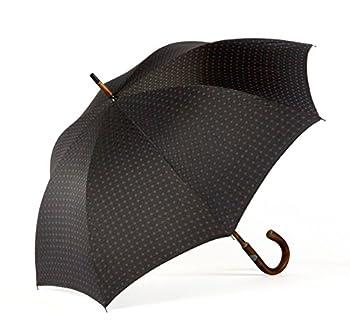 Shedrain Umbrellas Ombrelli Italian Stick Umbrella, Black Foulard, One Size 0