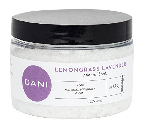DANI Naturals Mineral All Natural Spa Soaking Bath Salts, Lemongrass Lavender, 14 - Lemongrass Lavender Bath Salts