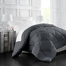 Egyptian Luxury Goose Down Alternative Comforter - All Season - 2100 Series Hotel Collection - Luxury Hypoallergenic Comforter - King/Cal King - Gray