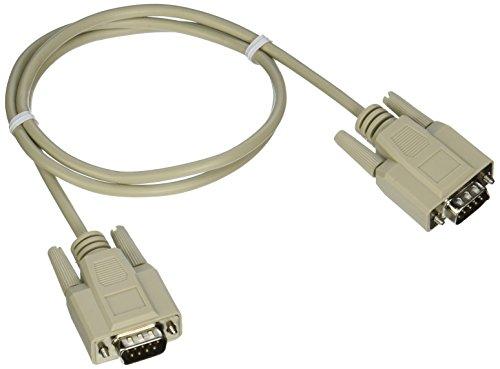 C2G 25221 DB9 M/M Serial RS232 Cable, Beige (3 Feet, 0.91 Meters)