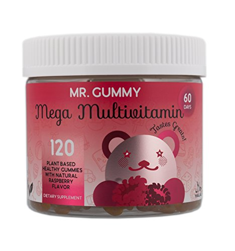 Mr Gummy Vitamins Mega Multivitamin Gummies Healthy & Delicious| Daily Minerals & Vitamins Support Health & Wellbeing | [120 Gummies, 60-Day Supply] | Kids Vitamins