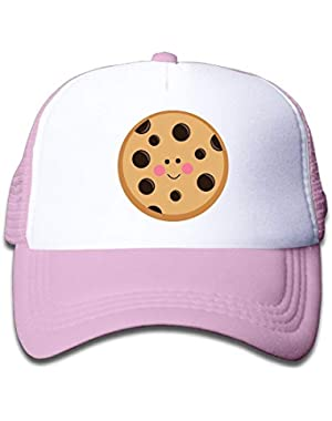 Cookie Clipart On Children's Trucker Hat, Youth Toddler Mesh Hats Baseball Cap