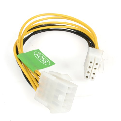 StarTech.com 8in EPS 8 Pin Power Extension Cable (EPS8EXT) (Vga Power Connector)