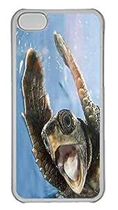 iPhone 5C Case Ahh Turtle Animal PC Custom iPhone 5C Case Cover Transparent