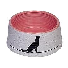 Nobby 73755 cerámica napf Luna, Color Gris Claro/Salmón