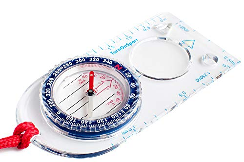Orienteering Compass - Boy Scout Compass for Kids - Hiking Compass Waterproof - Map Compass for Orienteering - Navigation Compass for Boy Scout Survival Kit - Compass Backpacking Camping Motoring