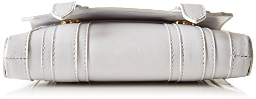 kaviar gauche - Mini Satchel Bag loopnet, Borsa a tracolla Donna Bianco (Weiß (white/gold))