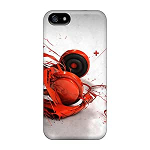Durable Defender Cases For Iphone 5/5s Covers(musicheadpones)
