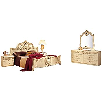 . Amazon com  ESF Barocco Traditional Ivory Color Classic Italian King