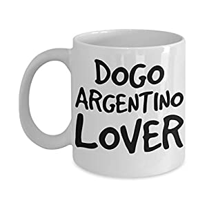 Dogo Argentino Lover Mug - White 11oz Ceramic Tea Coffee Cup - Perfect For Travel And Gifts 11