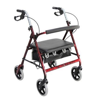 Merits Health Products Bariatric 4 Wheel Rollator - W467-UW1MUEA - 1 Each / Each