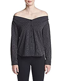 Women's Soft Pin Stripe Off The Shoulder Top