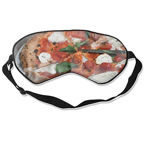 Natural Silk Sleep Mask, Blindfold, Super Smooth Eye Mask (Pizza Tomato Mozzarella -