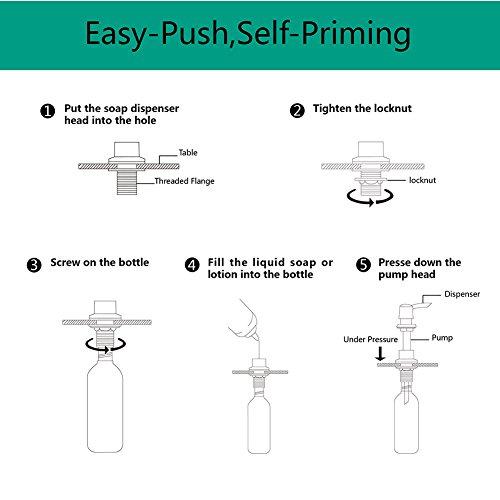 Buy kitchen sink soap dispenser pump bronze