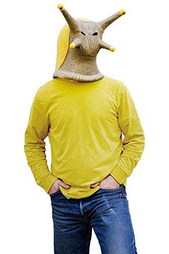 Obtai Halloween Animal Latex Masks Banana Slug Snail Adult Costume Full Face Mask Cosplay Props