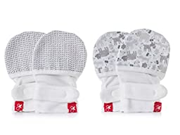 Goumikids Goumimitts Soft Stay On Scratch Mittens - Stop Scratches and Germs, 2 Pack