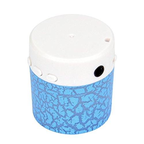 Muranba Portable Mini Stereo Bass Speakers Music Player Wireless TF Speaker (Blue)