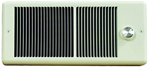 Forced Fan Wall 120v - TPI E4315TRP Series 4300 Low Profile Fan Forced Wall Heater with Wall Box, Standard Model, Single Pole Inbuilt Thermostat, 1500 W, 12.5 Amps, Ivory