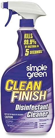 [해외]Simple Green Clean Finish Disinfectant Cleaner 32 oz Bottle Herbal 12CT / Simple Green Clean Finish Disinfectant Cleaner, 32 oz Bottle, Herbal, 12CT