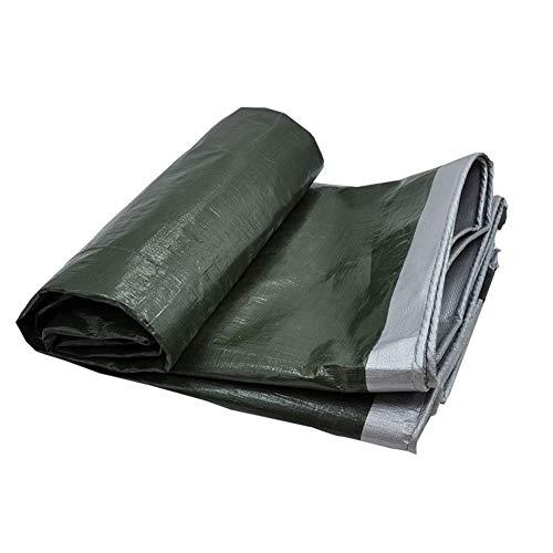 オピエート哀放映CHAOXIANG ターポリン サンシェード 厚い 屋外 防雨布 プラスチック シェード 帯電防止 PE 厚さ0.35mm、 22サイズ、 カスタマイズ可能な (色 : Green silver, サイズ さいず : 3.8mx5.8m)