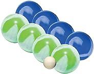 Franklin Sports Bocce Ball Set — 8 All Weather 90mm Soft Bocce Balls and 1 Pallino — Beach, Backyard Lawn or O