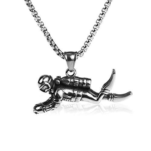 collier homme plongeur