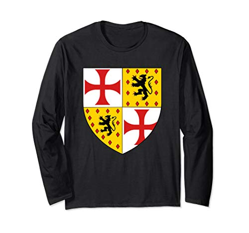 Royal Arms England Knight Costume Lion Shield Crusader Cross Long Sleeve T-Shirt ()