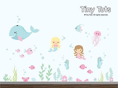 Amazon.com: Under the Sea Mermaid Ocean Wall Decal, Under ...