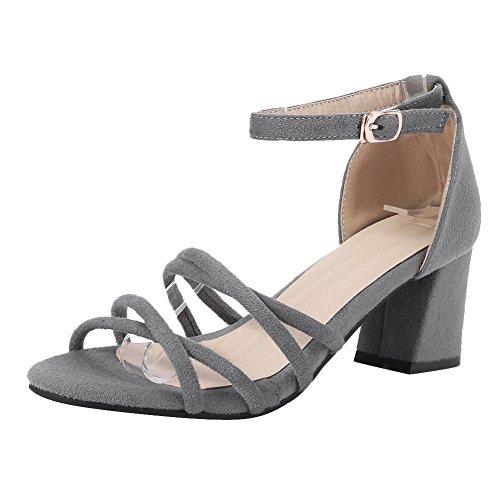 Sandali grigi con punta aperta per donna TIRwx