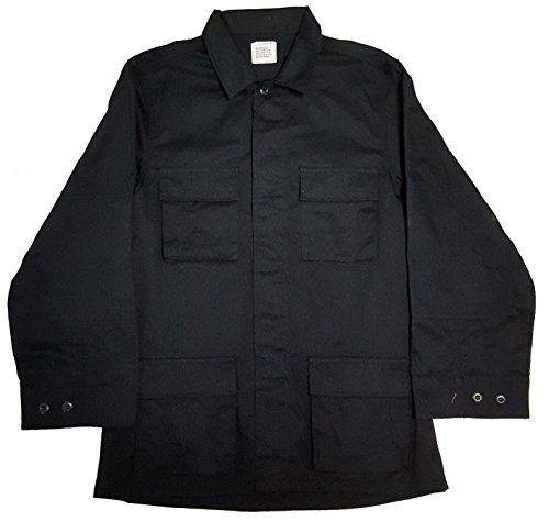 - Military Outdoor Clothing Moc BDU Jacket Never Issued BDU Jackets Twill, Large/Regular, Black
