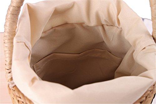 St027 In Estive Barile Manualbages Grano 04 Benna Stile Paglia Rotonda Vacanze Tessuto Japan Borsa Di Cilindrici Donne fU4fZ