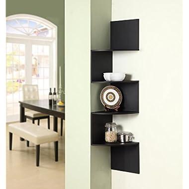 4D Concepts Hanging Corner Storage, Black