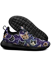 Galaxy Cats Kitty Mens Ultra Lighweight Sneakers Breathable