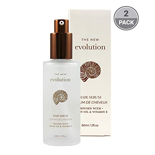 Evolution Argan Oil Serum For Hair | Vitamin E Hair Serum To Soften Dry Hair | Nourishing Serum For Hair Straightening | Oil Hair Serum With Aloe Vera | Become A Poet's Odyssey| (2 Pack)