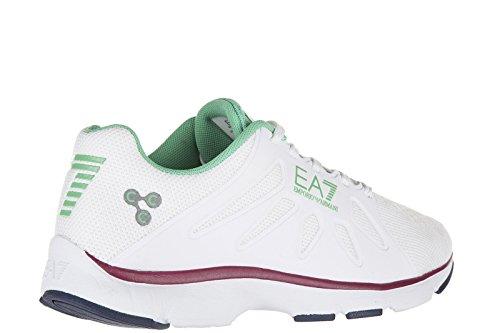 Emporio Armani EA7 chaussures baskets sneakers femme c-cube vigor blanc