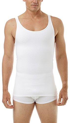 (Underworks Cotton Concealer Compression Tank Top, X-large, White )