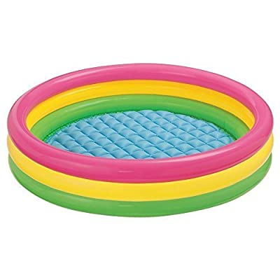 "Intex Kiddie Pool - Kid's Summer Sunset Glow Design - 58"" x 13""-Constructed from Durable Vinyl Kids Sunset Glow Inflatable Pool-Dimensions: 9 x 3.5 x 10 inches ; 23.3 pounds-Ebook for You@"